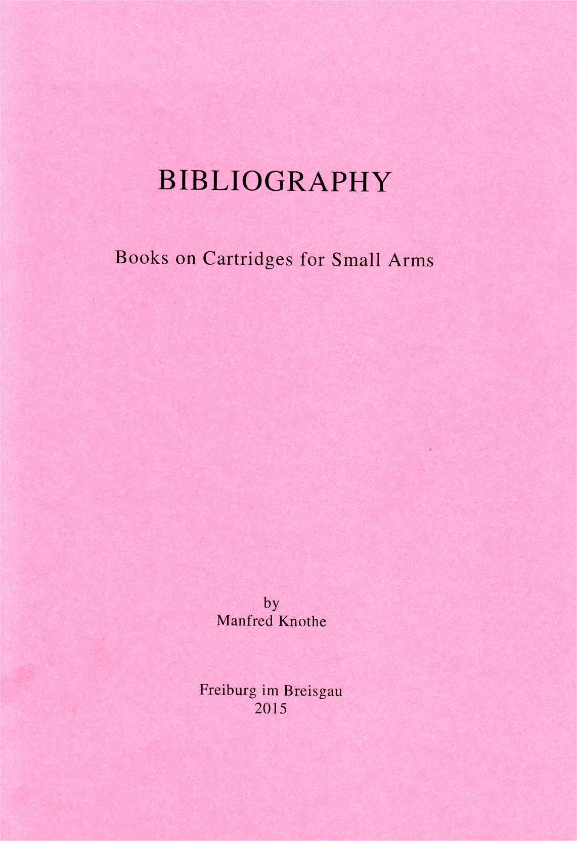 Bibliography by Manfred Knothe